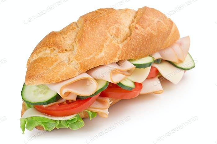 delicious ham sandwich