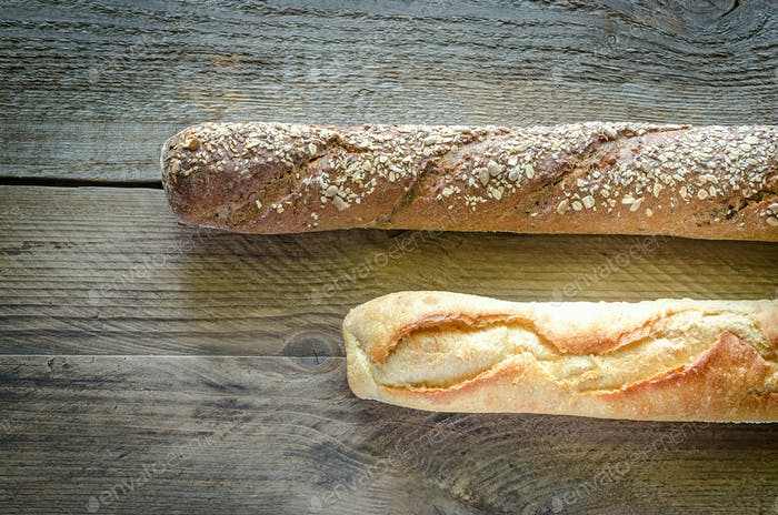 Wheat and Rye Baguettes