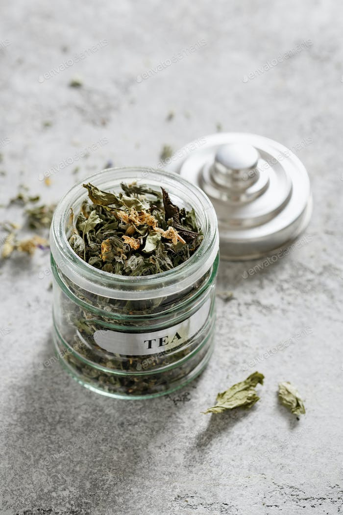 Herbal Tea in jar