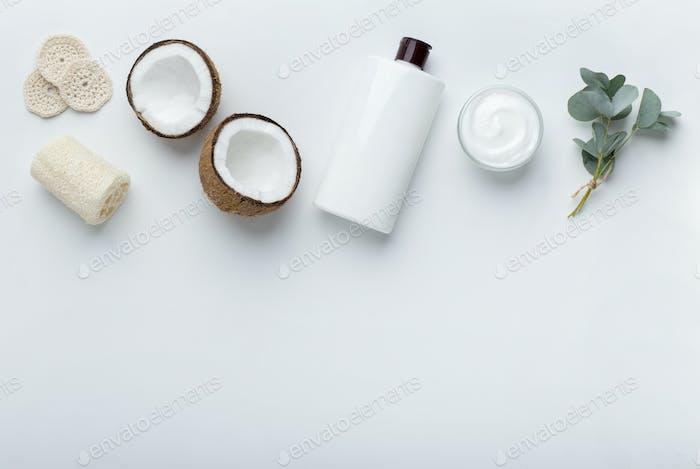 Natürliche hausgemachte Shampoo aus Kokosöl, Gesichts-Feuchtigkeitscreme