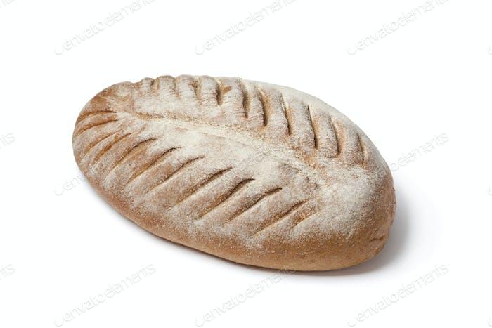 Laib Französisch Bauern Brot mit Scheiben