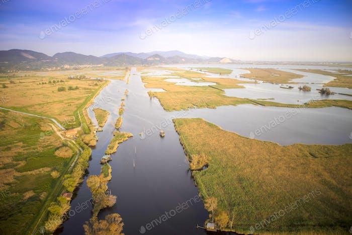 Wetland area of Tuscany