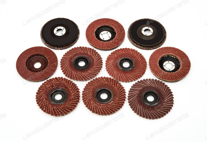 Industrial polishing and  grinding wheels set