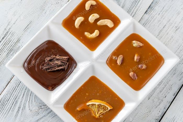 Variety of caramel
