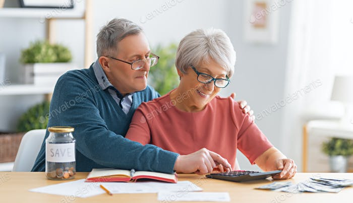couple managing the family budget