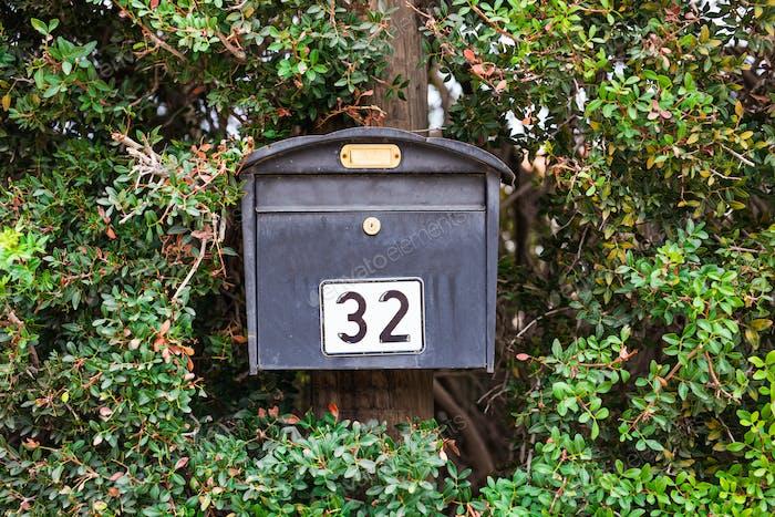 Grey mail box
