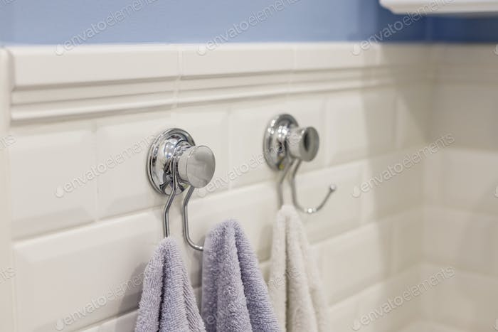 Metal sticky towels hanger for bathroom tiled wall does not requiring drilling wall