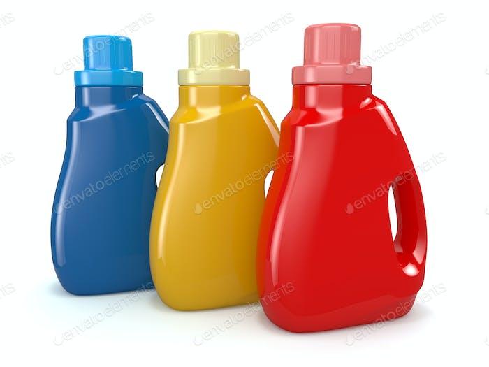 Kunststoff-Waschmittelflaschen Reinigungsprodukte.