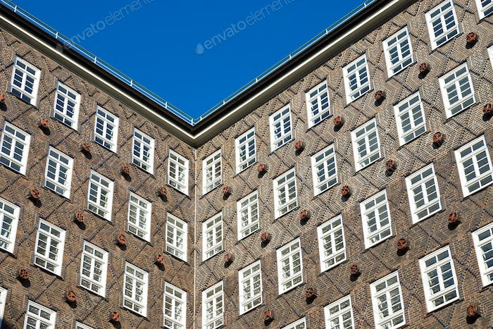 Historic building facade in Hamburg