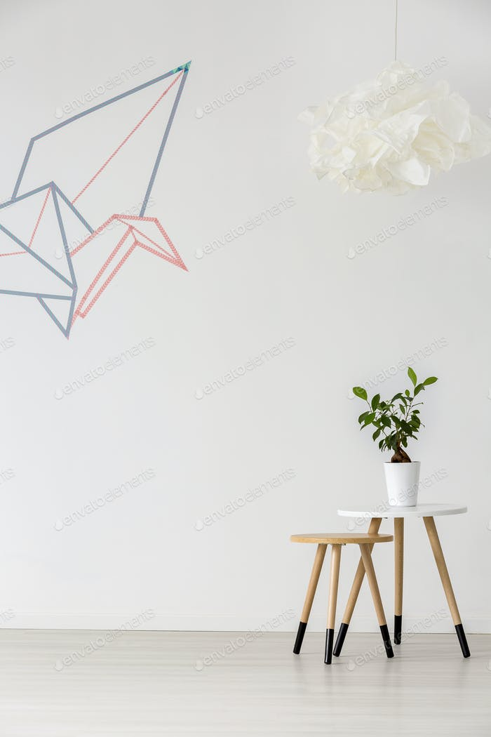 Minimalistisches weißes Interieur