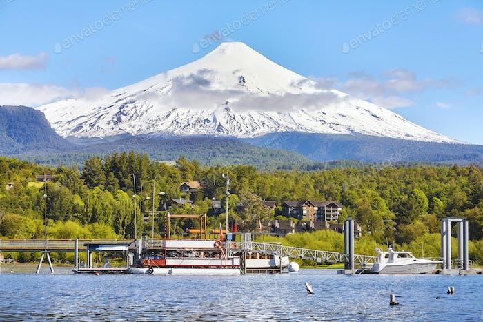 Picture of the Villarrica volcano, Chile