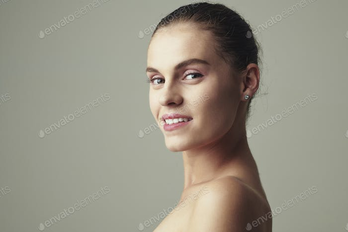 Portrait of attractive young woman