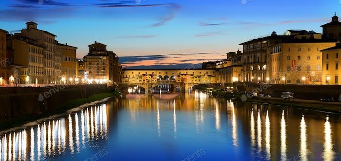 Fluss in Florenz
