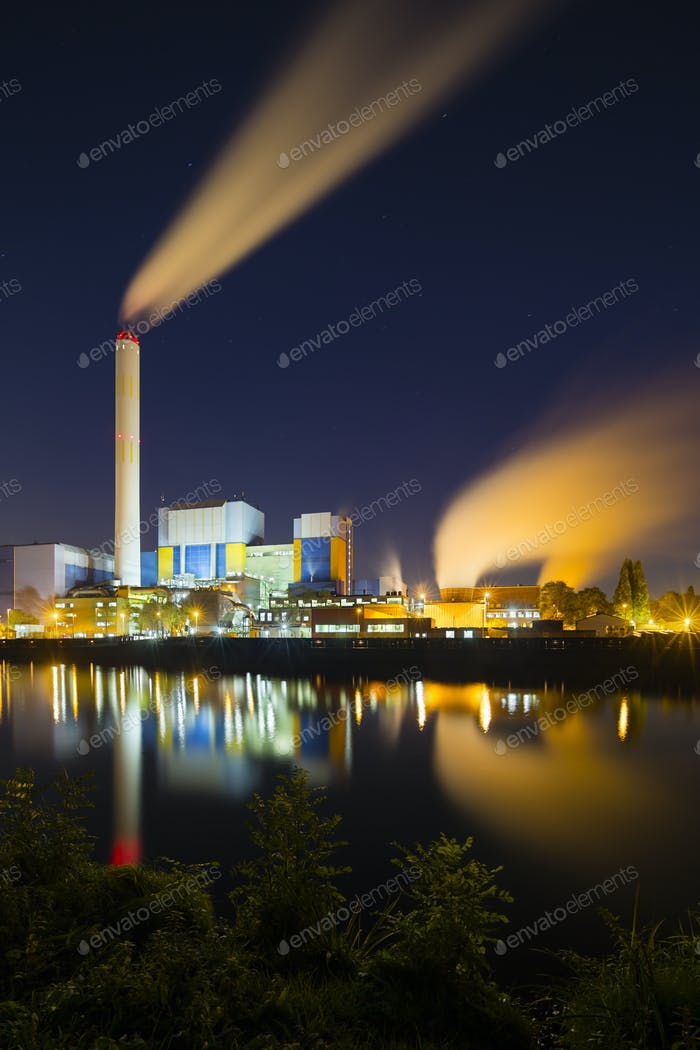 Colorful Industry At Night