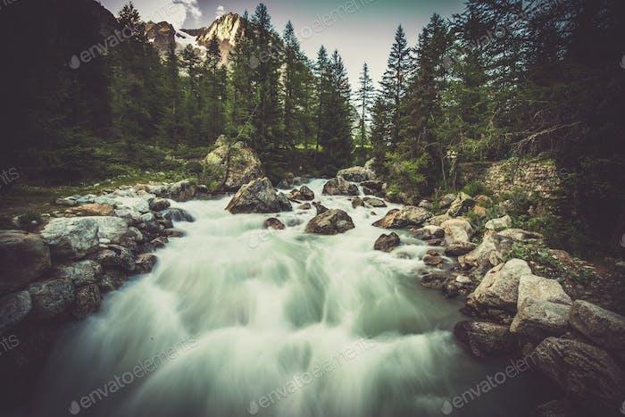 Alpine River Val Ferret Scenery