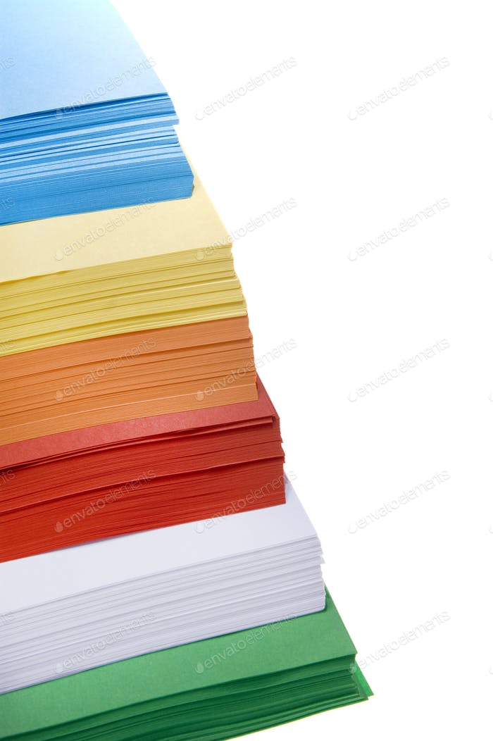 Different color paper