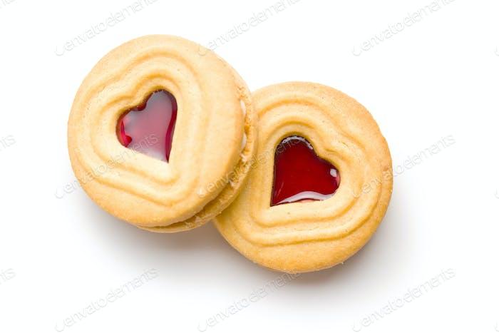 Herzgelee-Kekse.