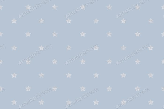 Seamless glittery silver stars background design resource