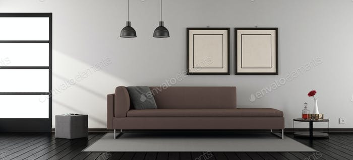Minimalist living room with sofa