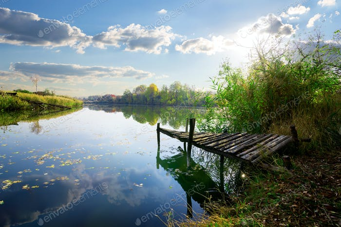 Alter Pier am Teich