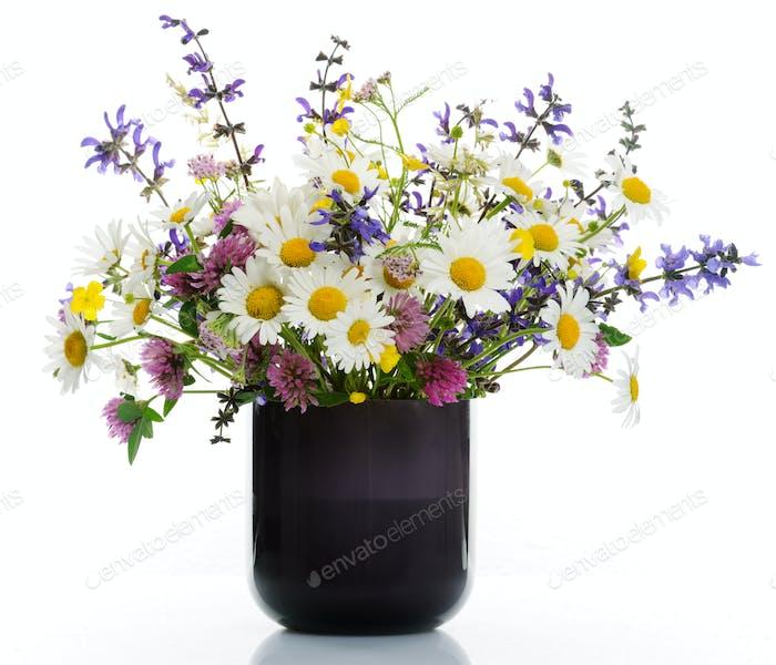Vase with wildflowers