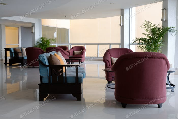 sofas in lounge