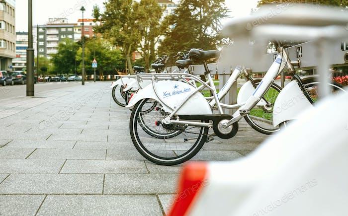 Rental bikes with customizable design