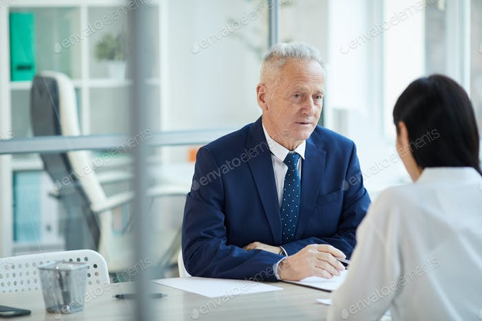 Boss Interviewing Candidate