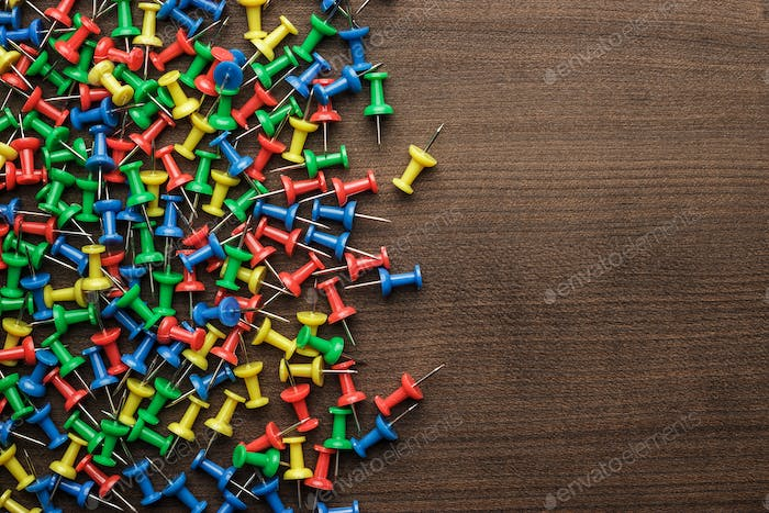 Bright Colorful Push Pins