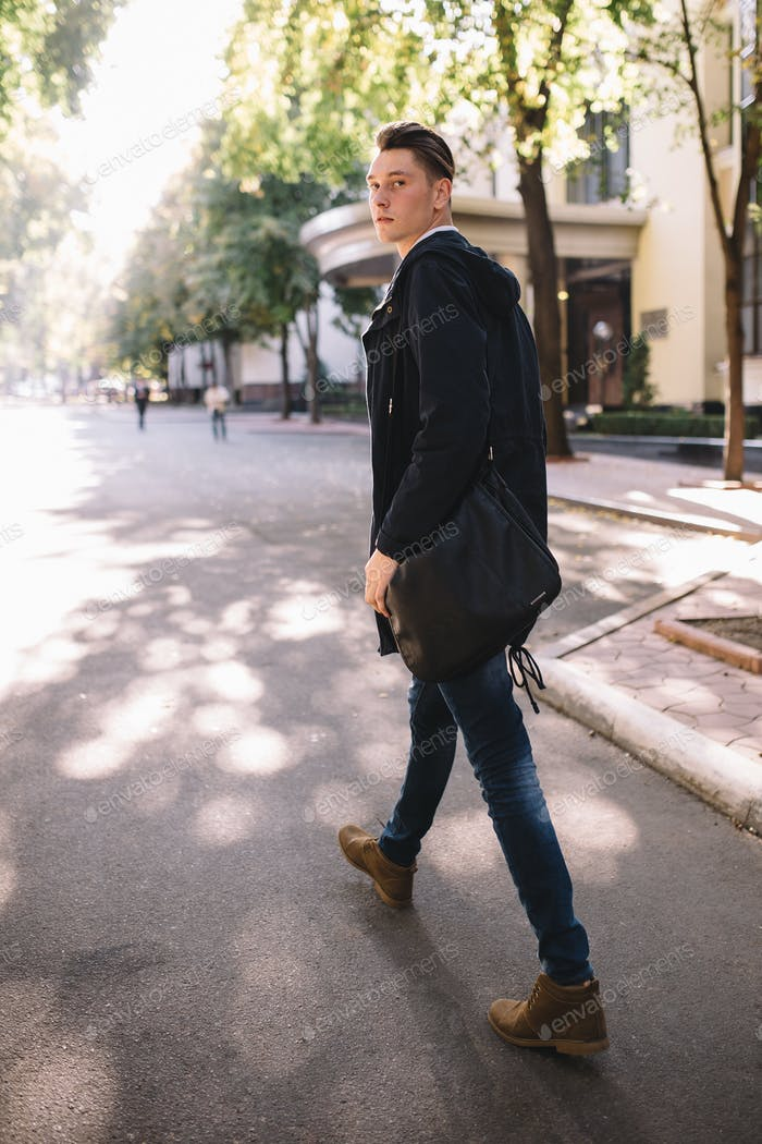 Stilvolles Hipster-Modell