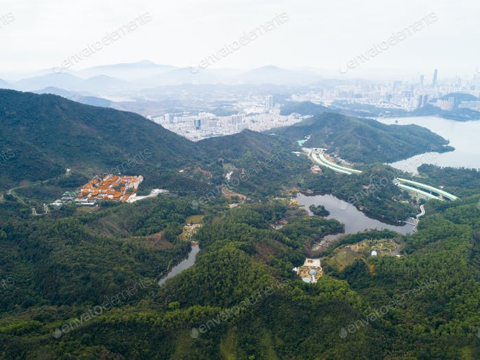 Aerial view of landscape in Shenzhen city,China