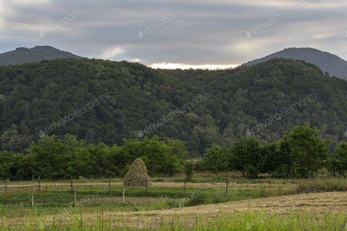 Romanian landscape in mountains
