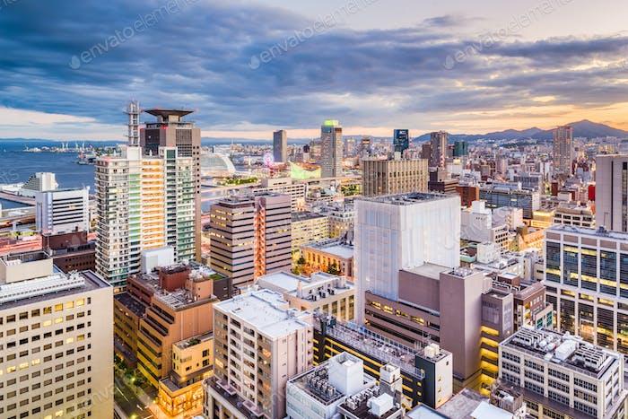 Kobe, Japan Motomachi Stadtbild