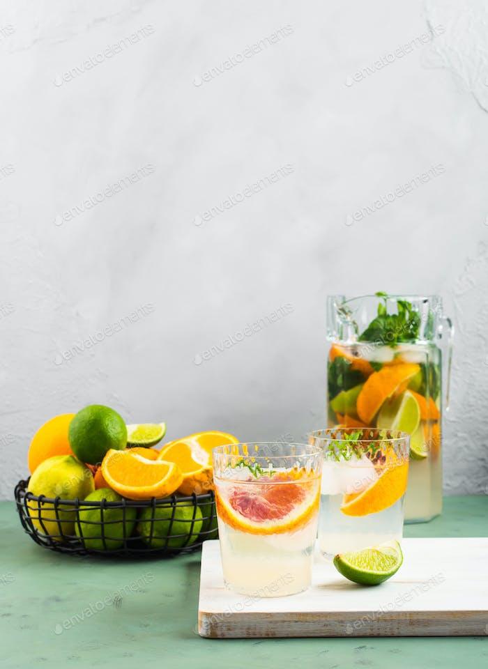 Свежий летний цитрусовый напиток