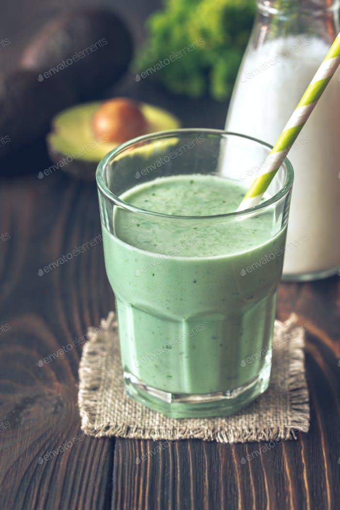 Avocado and coconut milk smoothie