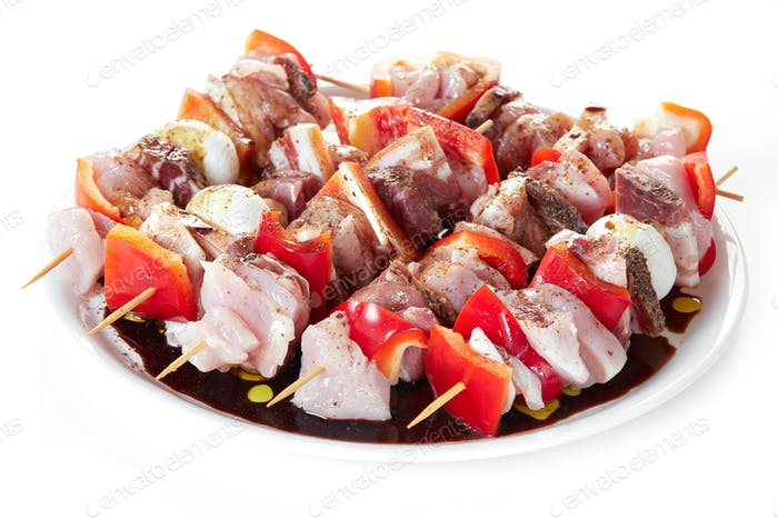 Skewers With Raw Meat