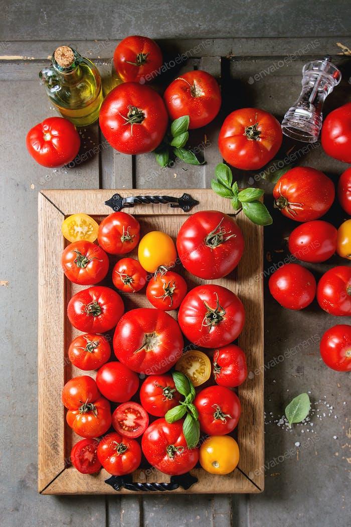 Reife frische Tomaten