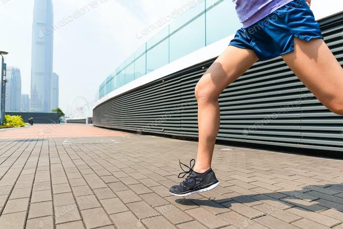 Die Beine des Läufers