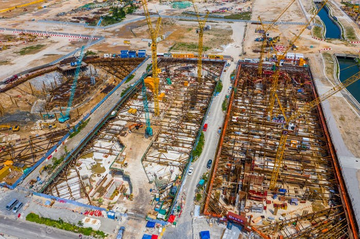 Kai Tak, Hong Kong 12. Mai 2019: Blick auf die Baustelle Hongkong