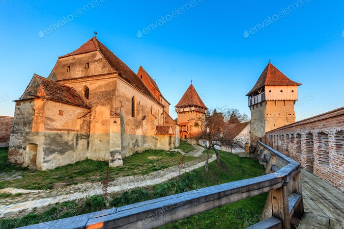 Alma Vii fortified church, Romania