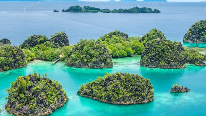 Rock Islands around Peanemo, Raja Ampat, West Papua, Indonesia