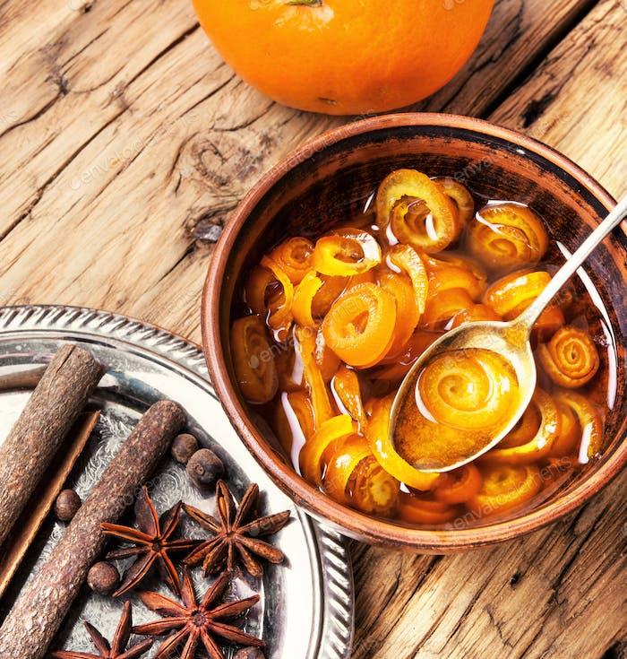 Delicious orange jam marmalade