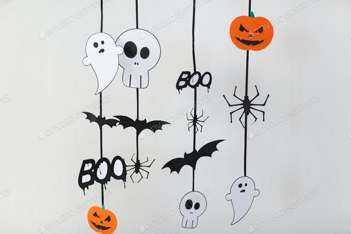 halloween party paper decorations