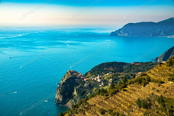 Corniglia village. Cinque Terre, Ligury, Italy