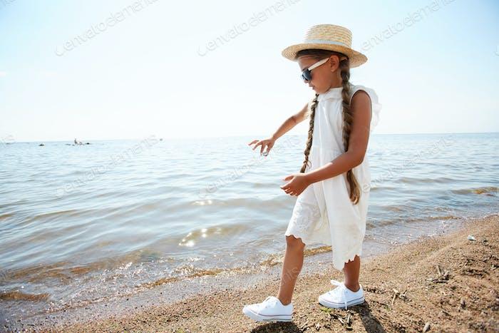 Little Girl by Water