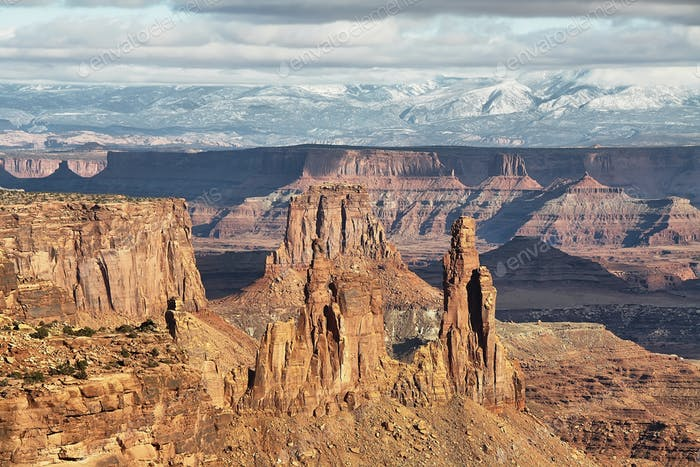 View from Mesa Arch in Canyonlands National Park