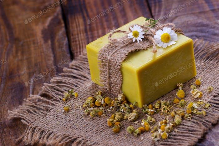 Handmade chamomile soap