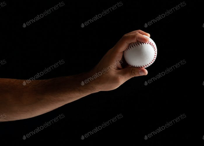 Baseball pitcher ready to pitch