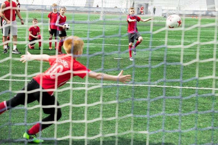 Goal at Junior Game