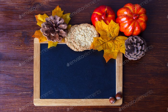 Autumn still life arrangement